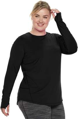Tek Gear Plus Size Thumb Hole Long Sleeve Tee