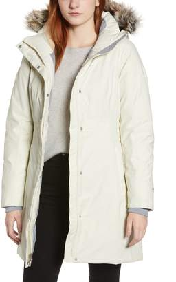 The North Face Arctic II Waterproof 550 Fill Power Down Parka with Faux Fur Trim