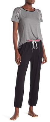 Kensie Printed Waistband Pajama Pants