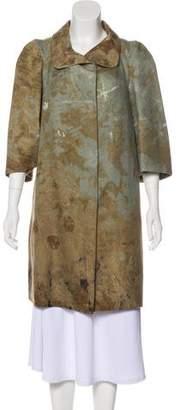Marni Wool Splatter Print Coat