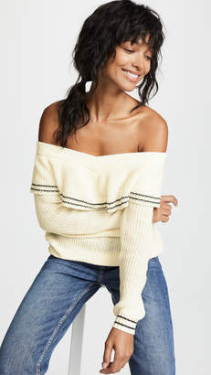 BB Dakota Rush Week Off Shoulder Ruffle Sweater