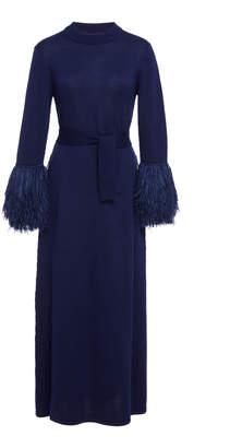Rosie Assoulin Fringed Sleeved Midi Dress