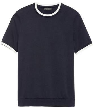Banana Republic JAPAN ONLINE EXCLUSIVE SUPIMA® Cotton Short-Sleeve Sweater