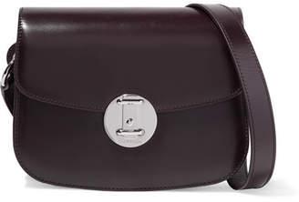 Calvin Klein Leather Shoulder Bag - Burgundy