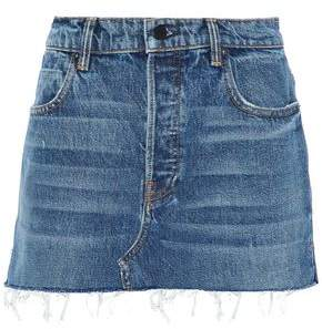 Alexander Wang Distressed Denim Mini Skirt