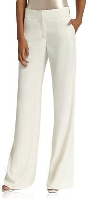 HALSTON HERITAGE Wide-Leg Crepe Trousers $295 thestylecure.com