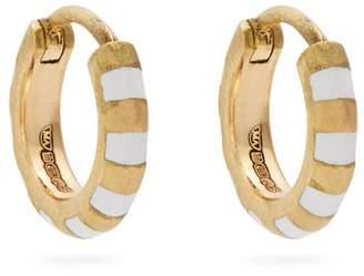 Marc Alary Enamel & yellow-gold earrings