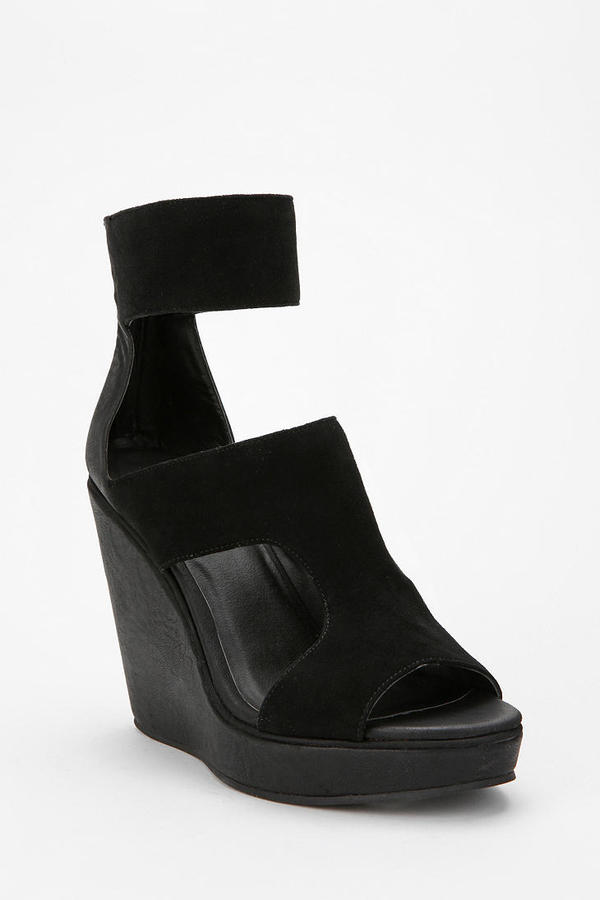 Deena & Ozzy Suede Cutout Wedge