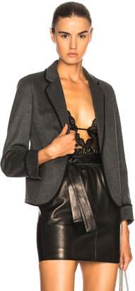 Saint Laurent Flannel One Button Blazer