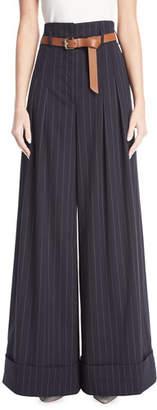 GREY Jason Wu X Diane Kruger Wide Pinstriped Palazzo Pants