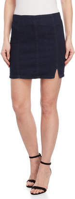 Free People Indigo Blue Femme Fatal Mini Skirt