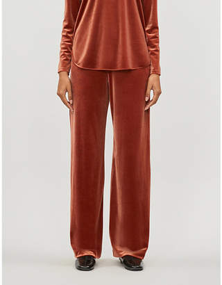 Max Mara Agordo wide-leg velvet trousers