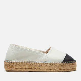 Kurt Geiger London Women's Mellow Leather Espadrilles - White/Black