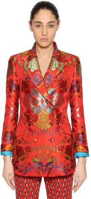 Etro Double Breasted Brocade Blazer