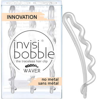 Invisibobble invisibobble Waver Slide-Lock Hair Clip - Crystal Pack of 3)