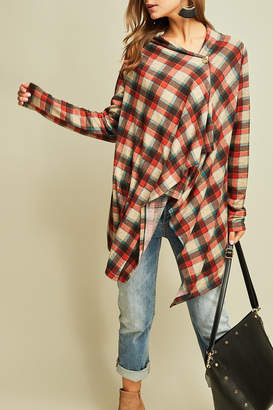 Entro Fall For Plaid top