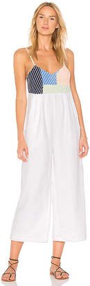 Mara Hoffman Weave Easy Jumpsuit in White $375 thestylecure.com