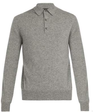 Allude - Cashmere Polo Top - Mens - Grey