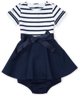 Ralph Lauren Striped Fit & Flare Dress, Baby Girls (0-24 months) $55 thestylecure.com