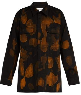 Marques Almeida Marques'almeida - Bleached Denim Shirt - Mens - Black