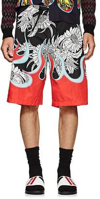 Prada Men's Floral & Flame Board Shorts
