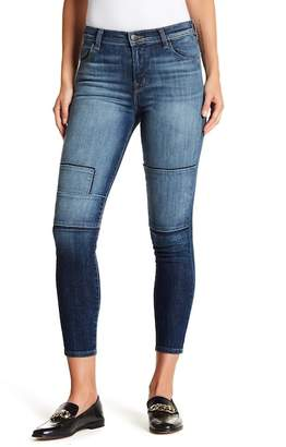 J Brand Alana High Rise Patchwork Skinny Jeans