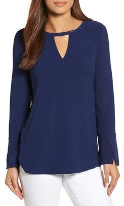 Women's Chaus Flared Sleeve Keyhole Top $69 thestylecure.com