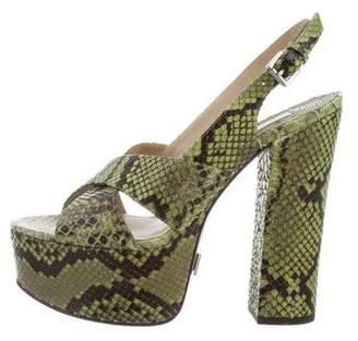 Michael Kors Python Platform Sandals