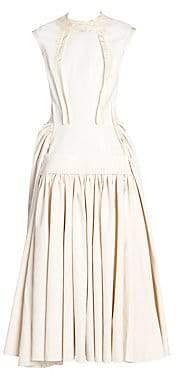 Marni Women's Cap Sleeve Ruched Skirt Maxi Dress