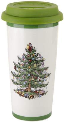 Spode Christmas Tree Porcelain Travel Mug with Silicone Lid