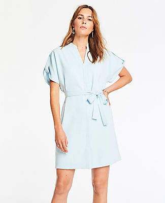 Ann Taylor Popover Belted Shirtdress