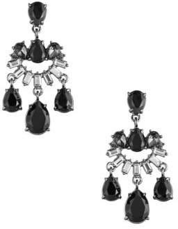 Carolee Midnight Tower Black Diamond, Hematite and Crystal Earrings