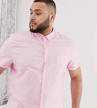 Asos Design DESIGN Plus casual skinny oxford shirt in pink