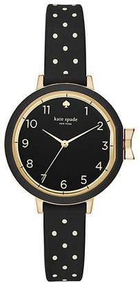 Kate Spade Park row polka dot silicone watch