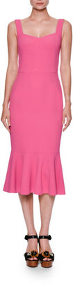 Dolce & Gabbana Sleeveless Flounced Cady Cocktail Dress, Pink $1,895 thestylecure.com