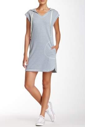 Max Studio Hooded Stripe Shift Dress