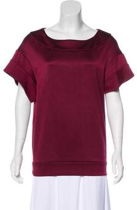 Miu Miu Satin Short Sleeve Top