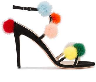 Fendi Multi pom pom 130 fur sandals
