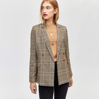 Warehouse Honey Check Blazer Jacket