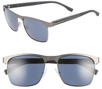 BOSS 57mm Rectangle Sunglasses