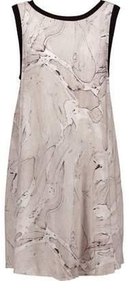 Enza Costa Printed Jersey Mini Dress