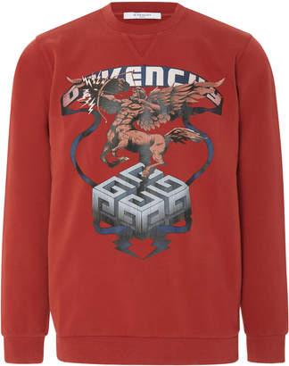 Givenchy Sagittarius Logo Cotton Jersey Sweatshirt
