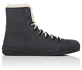 Barneys New York Women's Rubber & Faux-Shearling Rain Sneakers - Black