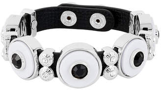 Henri Bendel Resin Leather Strap Bracelet