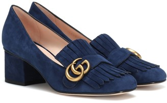 29c715948 Gucci Marmont suede loafer pumps