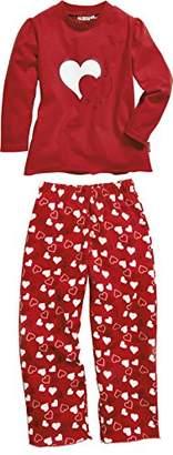 Playshoes Girl's Single Jersey Hearts Pyjama Set,(Size:5-/116 cm)