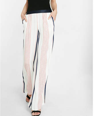 Express wide leg stripe dress pant $79.90 thestylecure.com