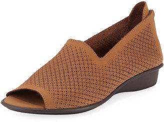 Sesto Meucci Eulah Perforated Zip Sandal, Camel $149 thestylecure.com