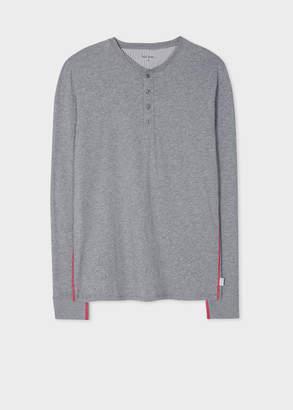 Paul Smith Men's Grey Jersey Henley Top
