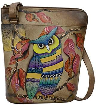 Anuschka Hand Painted Leather Women's Two Sided Zip Travel Organizer
